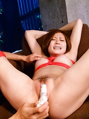 Ruri Haruka Asian with cans in ropes gets vibrators in coochie - Japarn porn pics at JapHole.com