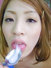 Yuu Mahiru Asian is fucked same time in holes with same dildo - Japarn porn pics at JapHole.com