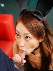 Yuu Kusunoki Asian bunny gets cum in mouth and vibrator on cunt - Japarn porn pics at JapHole.com