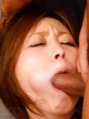 Ruri Haruka Asian gets fingers in love box and dongs in mouth - Japarn porn pics at JapHole.com