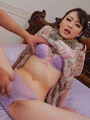 Tomoka Sakurai Asian shows nude cunt and gets phallus inside it - Japarn porn pics at JapHole.com