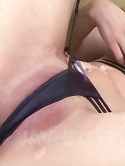 Koda Riri Asian in stockings rubs her clit in diverse positions - Japarn porn pics at JapHole.com