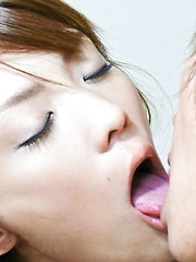 Nagisa Aiba Asian licks and sucks shlong before is fucked by it - Japarn porn pics at JapHole.com