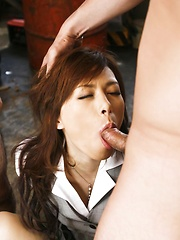 Keito Miyazawa Asian with legs in chains gets sperm in mouth - Japarn porn pics at JapHole.com