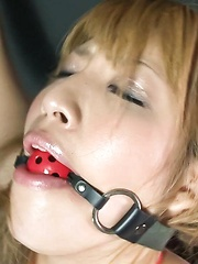 Hatsuka Kobayashi Asian with ball in mouth is tied and fingered - Japarn porn pics at JapHole.com