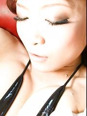 Misa Kikouden Asian gets vibrators on cunt and lot of cum on lips - Japarn porn pics at JapHole.com