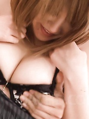 Rika Aina Asian with big round tits rides dick with hairy vagina - Japarn porn pics at JapHole.com