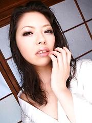 Uncut cock explodes its hot jizz all over cute Hana's face - Japarn porn pics at JapHole.com