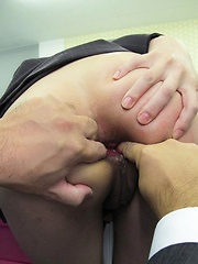 Office sex for Ibuki ends with raw and deep anal pounding - Japarn porn pics at JapHole.com