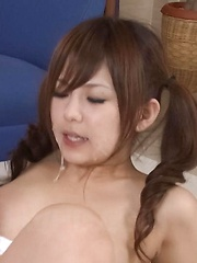 Miku Airi Asian gets vibrators on tits and cunt and cum in mouth - Japarn porn pics at JapHole.com