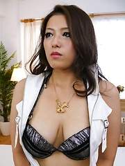 Meisa Hanai Asian has nipples of big cans licked and sucks tools - Japarn porn pics at JapHole.com