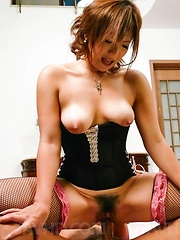Mei Hitomi Asian with revealed cans sucks dicks and gets vibrator - Japarn porn pics at JapHole.com