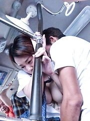 Yuna Satsuki Asian sucks strangers boners and has cans touched - Japarn porn pics at JapHole.com
