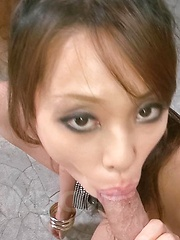 Asuka Asian chick shakes big boobs while is fucked after blowjob - Japarn porn pics at JapHole.com