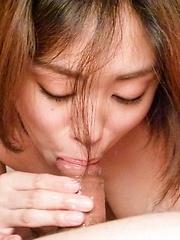 Yuna Satsuki Asian licks woody so well that gets cum on fingers - Japarn porn pics at JapHole.com