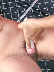 Asuka Asian with hot chest gets vibrator in and on fish taco - Japarn porn pics at JapHole.com