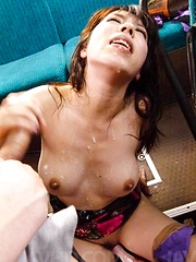 Chinatsu Kurusu Asian sucks tools and gets vibrators in love box - Japarn porn pics at JapHole.com
