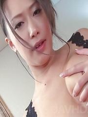 Yayoi Yanagida Asian plays with hot cans and enjoys vibrators - Japarn porn pics at JapHole.com