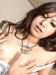 Kanade Otowa licks dick and gets tongue and vibrator on nooky - Japarn porn pics at JapHole.com