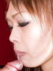 Rina Asian gets cum from sucking and taking cock between her jugs - Japarn porn pics at JapHole.com