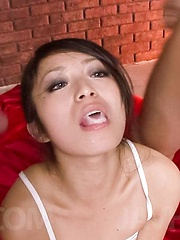 Nana Kunimi Asian with tied hands gets boner again and again - Japarn porn pics at JapHole.com