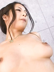 Satomi Suzuki Asian with fine cans sucks dildo and fucks with it - Japarn porn pics at JapHole.com