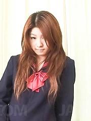 Maya Asian doll rubs her naughty love box under school uniform - Japarn porn pics at JapHole.com