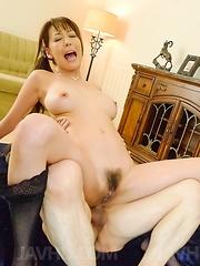 Akari Asagiri Asian has dark slit and asshole filled with sperm - Japarn porn pics at JapHole.com