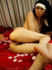Rio Kagawa Asian nun sucks boner and has asshole and slit fucked - Japarn porn pics at JapHole.com