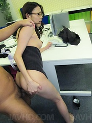 Ibuki Asian in office suit is fucked from behind in asshole - Japarn porn pics at JapHole.com