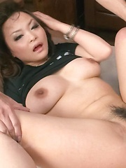 Yuu Haruka Asian is teased with vibrator on clit while is fucked - Japarn porn pics at JapHole.com