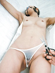 Chika Ishihara Asian is tied and teased with vibrator over thong - Japarn porn pics at JapHole.com