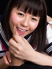 Araki Mai sucking cock - Japarn porn pics at JapHole.com