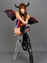 Sayuri Ono Asian in long boots is batwoman waiting for victims - Japarn porn pics at JapHole.com