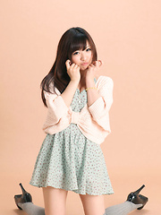 Mayuka Kuroda Asian in long socks and cute dress has big boobs - Japarn porn pics at JapHole.com