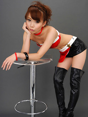 Ari Takada Asian in red black latex and long boots is so erotic - Japarn porn pics at JapHole.com