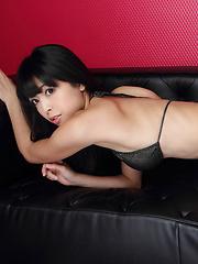Sakura Sato Asian on high heels likes sitting with ass up in air - Japarn porn pics at JapHole.com