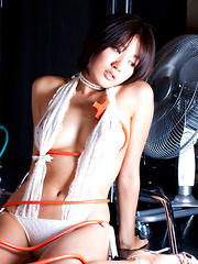 Asami Tada Asian is amazing model with long legs in photo session
