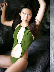 Haruna Yabuki Asian shows her leering curves in different outfits - Japarn porn pics at JapHole.com