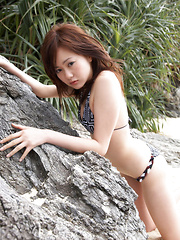 Akiki Sea Asian is absolutely fabulous in different bath suits - Japarn porn pics at JapHole.com