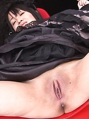 Hikaru Momose Asian gets vibrators in shaved cunt under dress - Japarn porn pics at JapHole.com