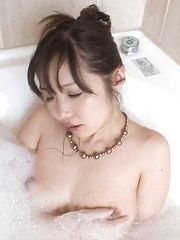 Haruka Oosawa Asian brings orgasm in clit rubbing it under shower - Japarn porn pics at JapHole.com