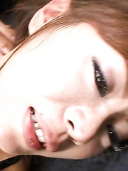 Mio Hiragi Asian sucks dick and is fucked with middle finger - Japarn porn pics at JapHole.com