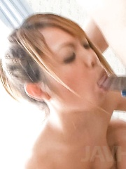 Chihiro Kobayashi Asian sucks dick and has slit licked on panty - Japarn porn pics at JapHole.com