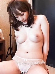 Emiri Mizusawa Asian gets vibrator on clit and fingers in nooky - Japarn porn pics at JapHole.com