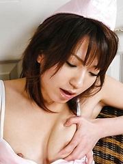Airi Nakajima Asian horny gets cum on mouth after sucking penis - Japarn porn pics at JapHole.com