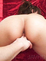 Mai Asahina Asian has her fingered poonanie filled with cum too - Japarn porn pics at JapHole.com