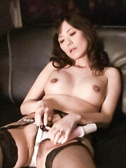 Manami Komukai Asian sucks vibrator she fucks her love box with - Japarn porn pics at JapHole.com