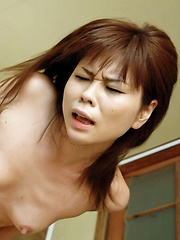 Yukari Asian has clit rubbed and gets cum after doggy frigging - Japarn porn pics at JapHole.com