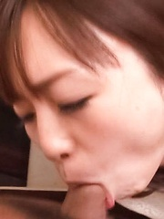 Nozomi Hatsuki Asian swallows cock in mouth and gets vibrator